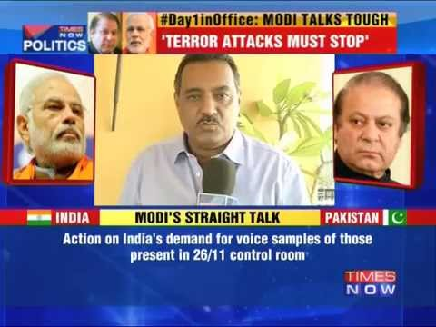 Modi meets Nawaz Sharif, talks tough