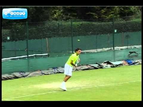 Roger Federer Serve in Slow Motion
