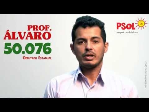 [Prof. Álvaro para dep. estadual - 50076 com Eneida para dep. federal - 5009 ]