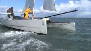 VirusBoats V8 Catamaran First Sailing Sea Trials