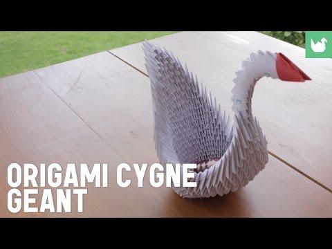 Comment faire un cygne géant en papier ?