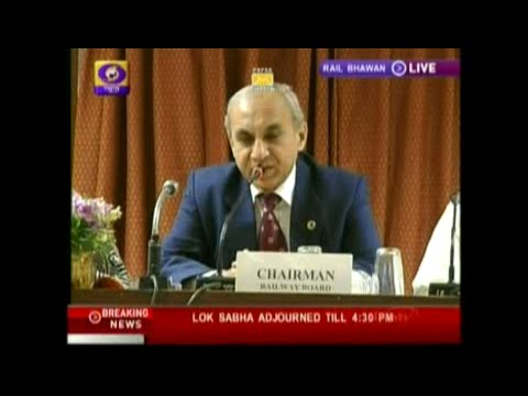 DD News: Press conference of Chairman, Railway Board on Railway Budget 2014-15