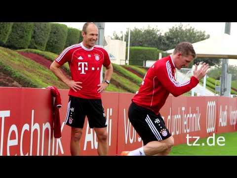 FC Bayern in Doha: Einzeltraining - Robben und Schweinsteiger machen Fortschritte (06.01.2014)