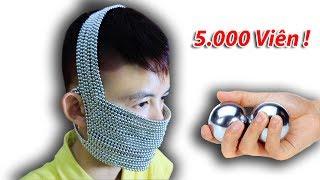 NTN - Thử Làm Khẩu Trang Thép Với 5.000 Viên Bi Nam Châm ( MAGNET )