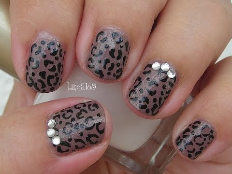 Nail Art - Basic Cheetah Print