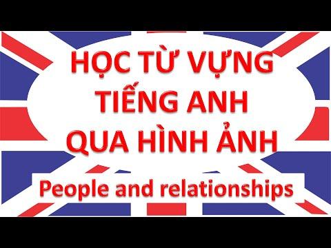 Học từ vựng tiếng Anh qua hình ảnh - People and relationships The family