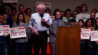 Bernie Sanders Holding a Rally in Lubbock TX, March 2018