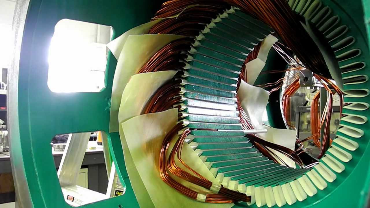 coil insertion winding   phase cat generator youtube