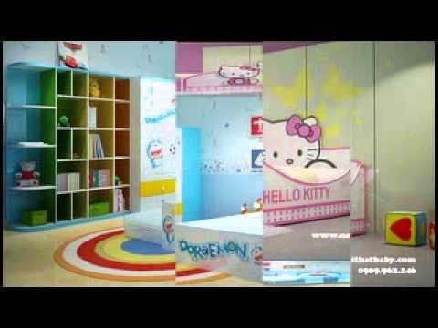 Giường trẻ em đẹp: giường ngủ hello kitty, giường ngủ 2 tầng trẻ em