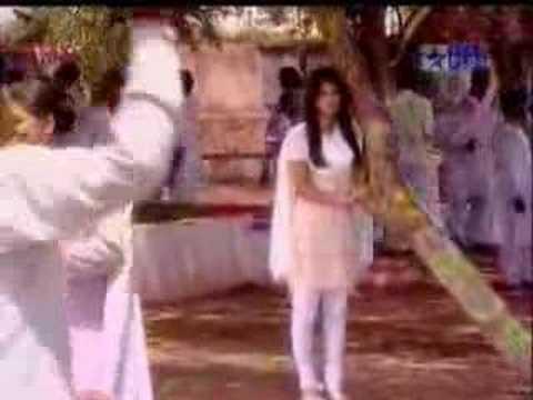 Sagar and Ganga play holi