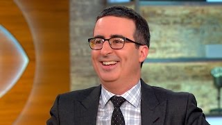 "John Oliver on Emmy win, ""gift"" of politics and satire"