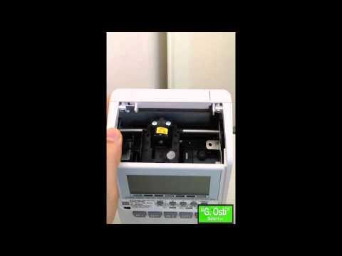 Max1600 Timbracartellino marcatempo sostituzione cartuccia inchiostro