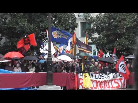 Fascistas y antifascistas en el día de la Toma Granada 2014