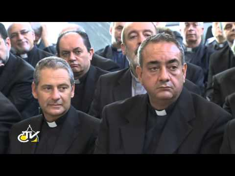 Pope Francis meets with clergy of Rome