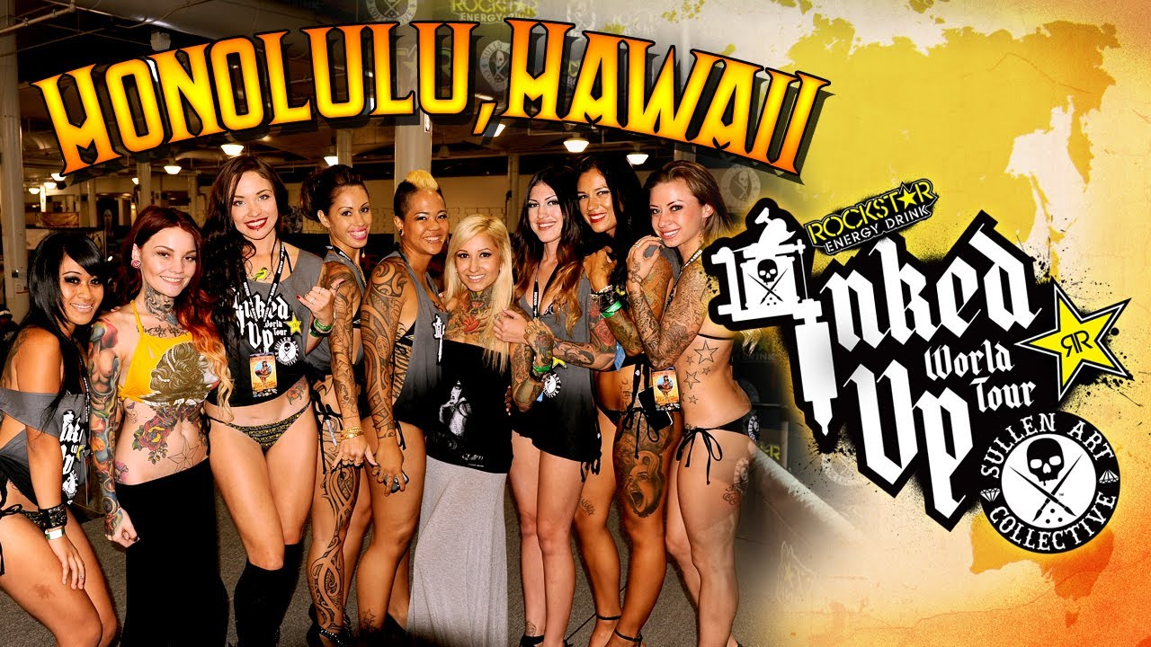Tattoo convention coverage rockstar energy miss inked up for Tattoo expo hawaii