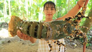 Yummy cooking 300$ GIANT RAINBOW LOBSTER recipe - Cooking skill