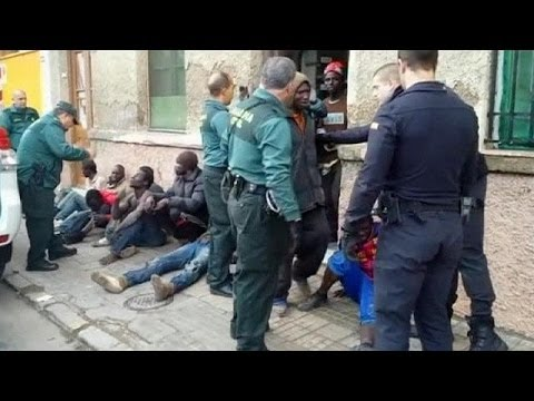 African migrants arrested after getting into Moroccan Spanish enclave of Melilla