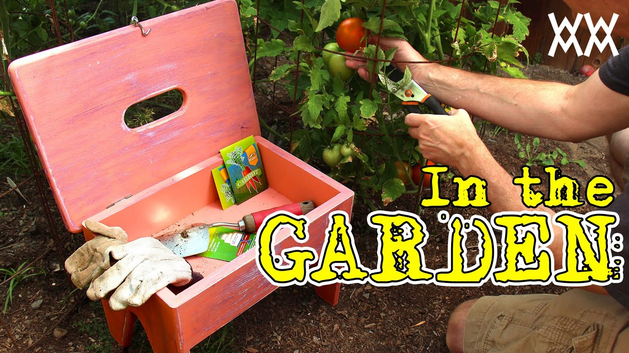 Handy Gardening Stool Also Carries Supplies Fun Outdoor