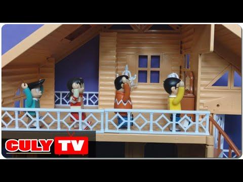 đồ chơi Doremon chế hài - Nobita ngủ nướng tập thể dục buổi sáng xuka chaien xeko doraemon toy