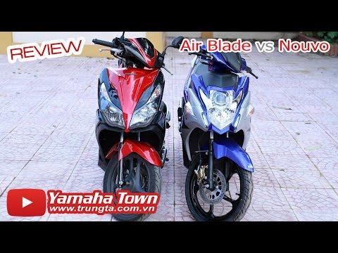 Yamaha Nouvo Fi 2015 đọ dáng Honda Air Blade 2014 - So sánh chi tiết