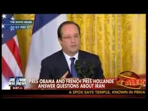 Pres Obama & French Hollande on Iran and Sanction