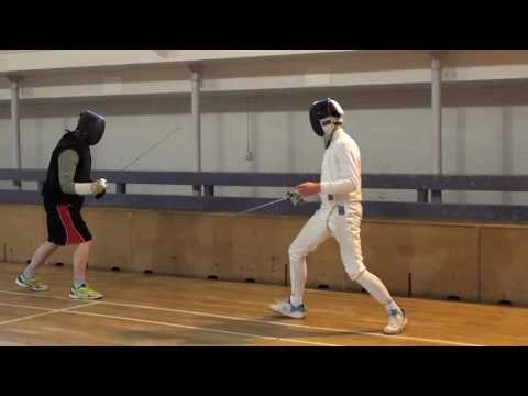 Foil Fencing Lesson Adam Blight & Ayman   4
