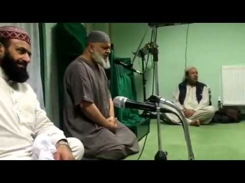 Haji Khudadad saab from Telford reading Naat at Ghousia Mosque Telford