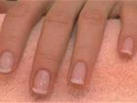 How to french manicure short nails at home
