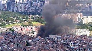 حريق ضخم في سان باوْلو البرازيلية يلتهم 50 مسكنا ويخلِّف عددا من الجرحى |