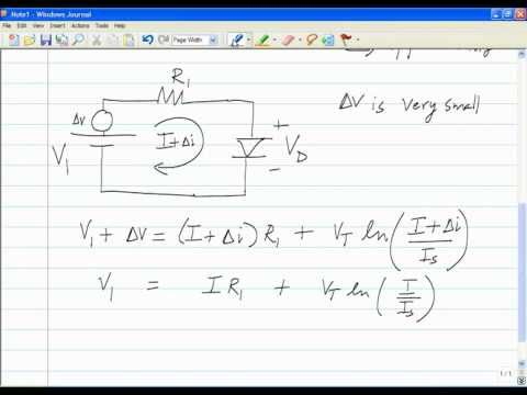 Lecture 2 - Introduction to nonlinear network elements, operating point and incremental linearity