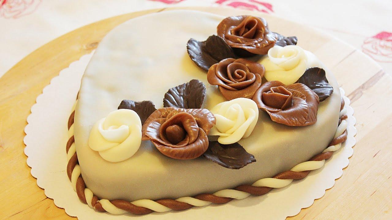 Украсить торт розочками в домашних условиях
