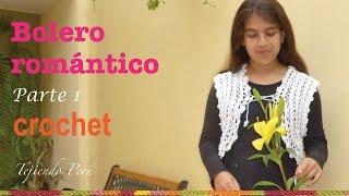 Bolero Romántico Para Damas Tejido A Crochet De 1 Pieza