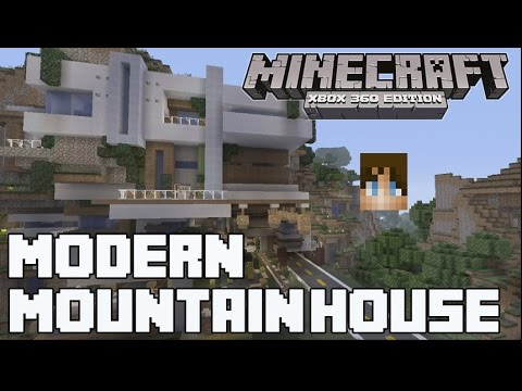 Minecraft xbox 360 amazing modern mansion w download for Modern house 360