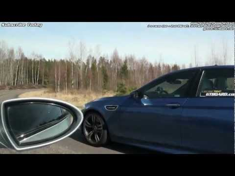 BMW M5 F10 vs M5 E60 x 3 races from the M5 E60