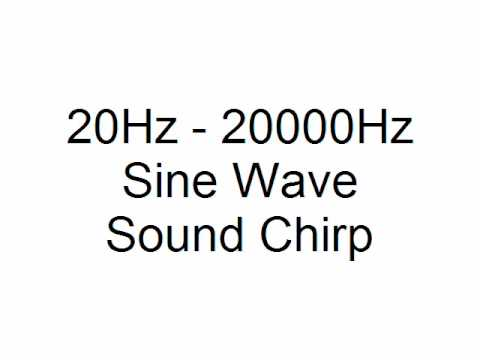 20Hz - 20000Hz Sine Wave Sound Chirp