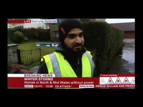 Muslim Aid - UK Floods Response, BBC NEWS, 14 Feb 2014.