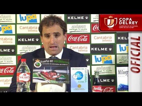 Rueda de Prensa de Arrasate tras el Racing de Santander - Real Sociedad - HD Copa del Rey