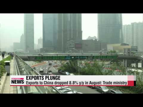 Korean exports drop by biggest to six-year low in August 8월 수출 6년만에 최대폭으로 감소
