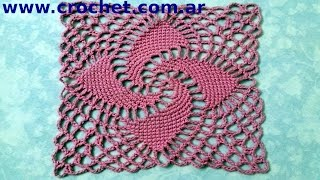 Motivo N° 8 En Tejido Crochet Tutorial Paso A Paso.