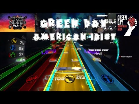 Green Day - American Idiot - @RockBand Blitz Playthrough (5 Gold Stars)