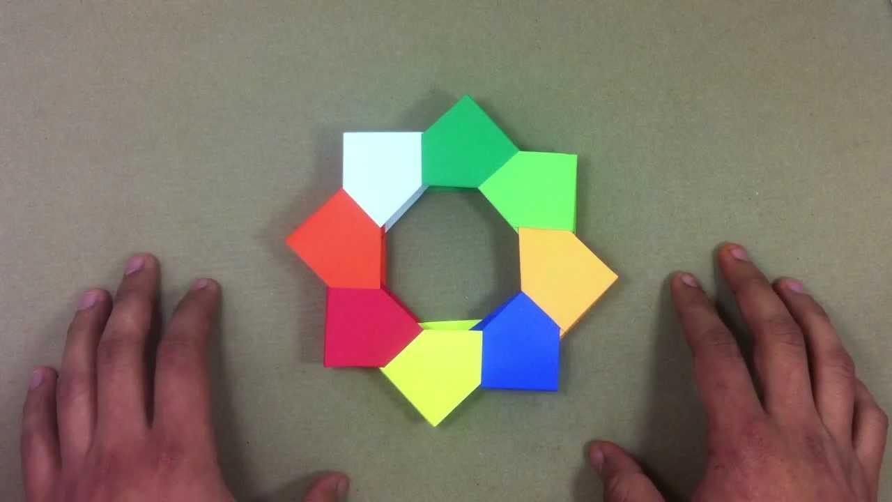 Portarretrato de origami marco de fotos youtube - Como hacer un marco de fotos original ...