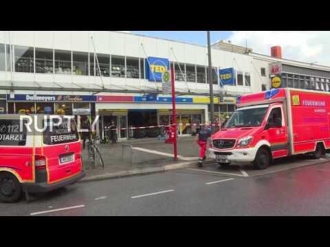 突发:德国超市遇袭 男子持刀捅人 一死多伤(图)