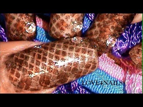 Piel De Culebra Rapido Y Sencillo Decoracion De Uñas ~ Tutorial