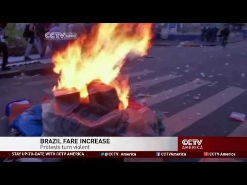 Protests over Bus Fare Increase in Brazil
