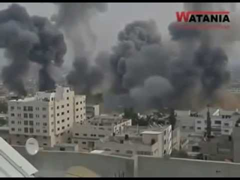 Gaza's Bombardment by the IDF 7/8/2014 (Gaza War 2014)