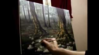 How To Paint A Mystical Forest Acrylic Painting Lesson