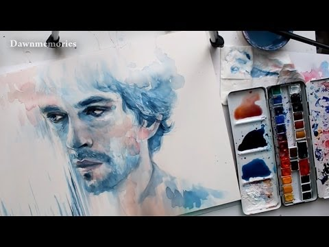 Will Graham (Hugh Dancy) Watercolor Portrait