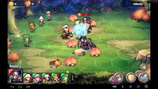 Heroes Tactics Heroic Mode Level 2-2 ★★★ (F2P Heroes + No Pegasus)