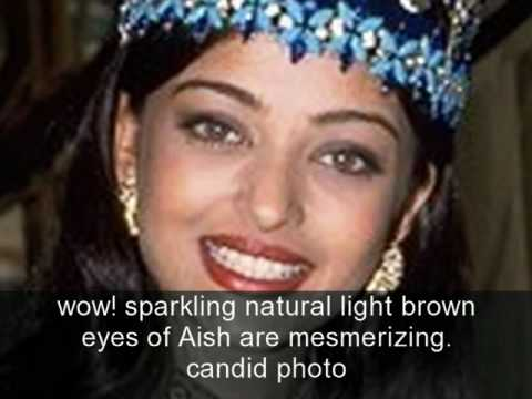 The TRUE color of Aishwarya Rai's eyes,behind the glasses ...