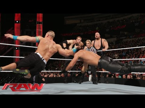 John Cena vs. Seth Rollins, Big Show & Kane - 3-on-1 Handicap Match: Raw, January 19, 2015